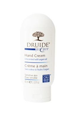 Druide Hand Cream PUR & PURE - Fragrance-free. Smooth & silky finish with no sitcky residue. Available @ Boutique Druide (Pointe-Claire, Québec) #unscented #scentfree #fragrancefree #fairtrade #organic #glutenfree #vegan