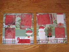 Pre Made Christmas 12x12 Double Page Scrapbook Layout New | eBay