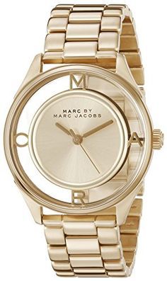 #love #instadaily A #Marc by Marc Jacobs watch with a minimalist dial. Logo letters at the 3, 6, 9, and 12. Link band. Hinged-snap clasp.