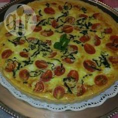 Tarta de tomates cherry, mozzarella y albahaca @ allrecipes.com.ar Allrecipes, Queso Mozzarella, Quiche, Mashed Potatoes, Breakfast, Ethnic Recipes, Food, Tomato Pie, Stir Fry