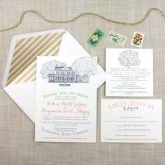 Legare Waring House Wedding Invitation – Scotti Cline Designs
