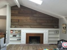 Stained Concrete Floor Shiplap Wall Google Search