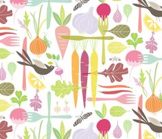 The Dinner Thief fabric by kayajoy on Spoonflower - custom fabric