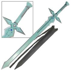 Loyal Sword Art Online Dark Repulser Kirito Kirigaya Kazuto Green Sao Steel Replica Tv, Film & Game Replica Blades Knives, Swords & Blades