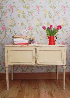 Laura's Lick of Paint ♥ Laura Ashley Furniture Paint, Painted Furniture, Home Furniture, Circle House, Tile Wallpaper, Dixie Belle Paint, Vintage Farm, Cabinet Makeover, House Beds