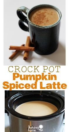Crock pot pumpkin latte recipe. Creamy, delicious and made with REAL ingredients. A fabulous crowd pleaser!