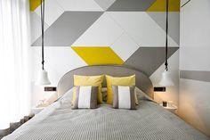 Contemporary Bedroom in CN by Kelly Hoppen Interiors Contemporary Bedroom, Modern Bedroom, Modern Contemporary, Bedroom Wall, Bedroom Decor, Gray Bedroom, Bedroom Yellow, Kelly Hoppen Interiors, Bed Design