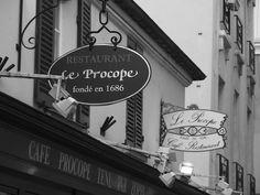 Dining at Le Procope...  {Established 1686}