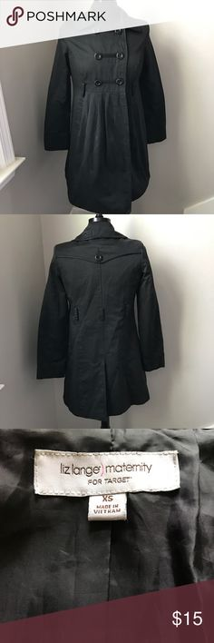 Maternity Pea Coat by Liz Lange - XS Adorable coat by Liz Lange Maternity is a size XS. This black button up coat is in great condition. There are belt loops but belt not included. From a non smoking home. Liz Lange for Target Jackets & Coats Pea Coats
