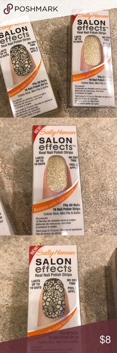 Sally Hansen Salon Effects Real Nail Polish Strip Both packages have never been used or opened! Sally Hansen Other