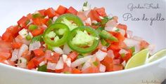 There's nothing better than fresh, garden Pico de gallo. This blends all the best flavors, plus it's so healthy. WIN - WIN!