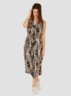 Easy Overall Jumpsuit Print H - Anntian