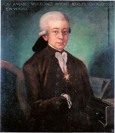 Mozart in a portrait from around 1777, the year before he returned to Paris.