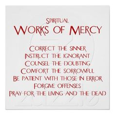 works of mercy corporal and spiritual - Buscar con Google ...