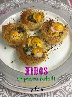 Nidos De Pasta Kataifi Con Huevos De Codorniz Y Foie