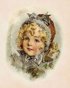 New Fashion Illustration Winter Snow Vintage Christmas Cards Ideas Vintage Christmas Photos, Holiday Images, Victorian Christmas, Christmas Pictures, Christmas Postcards, Images Noêl Vintages, Images Vintage, Vintage Cards, Vintage Postcards