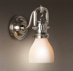 1920s Factory Sconce - contemporary - bathroom lighting and vanity lighting - Restoration Hardware