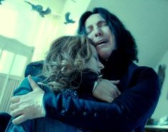 Severus Snape mourning Lily Potter's death