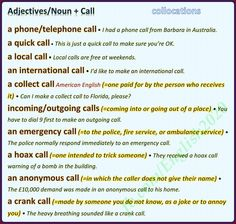Forum | Learn English | Common Collocations with CALL | Fluent Land
