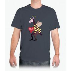 Bee My Honey Unicorn Bee Movie - Mens T-Shirt