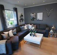 Outstanding small living room designs are offered on our site. look at this and you wont be sorry you did. Small Living Room Design, Living Room Decor Cozy, Living Room Colors, Living Room Grey, Home Living Room, Interior Design Living Room, Living Room Designs, Interior Livingroom, Design Bedroom
