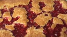 Easiest cherry cobbler ever Melted butter is topped with a sweet biscuit dough and lots of cherry pie filling I ve made it several times and it always works Dump no stir Cherry Desserts, Just Desserts, Delicious Desserts, Dessert Recipes, Yummy Food, Easy Cherry Cobbler, Easy Pie, Pumpkin Bread, Food And Drink