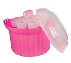 Fox Run Craftsmen® Cupcake Carousel for 24 cupcakes Cupcake Carrier, Pink Cupcakes, Storage Organization, Carousel, Restaurant, Cups, Fox, Plastic, Mugs