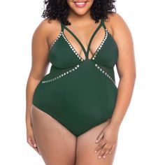 02c7a1e73e0db Women s Plus-Size Cut-Out Mesh One-Piece Swimsuit