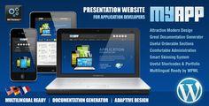 MyApp Adaptive WP Theme for App Developers by AIT WordPress Themes , via Behance