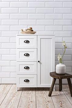 Stow Bathroom Cabinet Storage Cupboard in White
