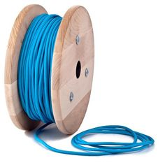 Blue Turquoise textile cable by Cablelovers