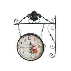 Çift Taraflı İstasyon Saat Siyah Taç(Geçiçi olarak temin edilememektedir)    Ürün Bilgisi  Büyük Boydur  Genişlik : 30 cm  Yükseklik : 33 cm 'dir  Renk Seçeneği: Siyah/Beyaz  Not: Beğendiğiniz istasyon saat modelini ödeme sayfasında rengini açıklama da belirtiniz lütfen.