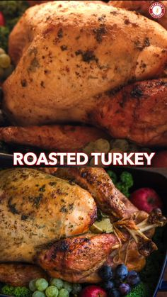 This Roast Turkey Recipe has the juiciest, most flavorful turkey breast! How to Roast a Turkey; what you need to know for baking your Thanksgiving Turkey. Whole Turkey Recipes, Roast Turkey Recipes, Oven Roasted Turkey, Baked Turkey, Turkey Baste Recipe, Turkey In Oven, Cajun Turkey, Injecting Turkey Recipes, Filet Mignon
