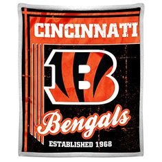 The Northwest Company NFL Cincinnati Bengals Old School Mink with Sherpa Back Throw 50Inch by 60Inch -- Check this awesome product by going to the link at the image.