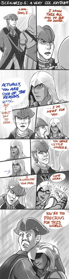I KNOW THIS IS WEIRD I PINNED FOR CONNOR'S FACE AT THE END I SWEAR I CAN PIN SERIOUS THINGS ABOUT AC (ac3)Too Precious by blacktenshi22 on DeviantArt