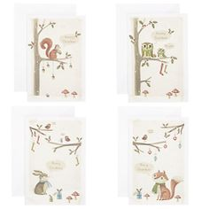 Buy John Lewis Mini Woodland Flitter Charity Christmas Cards, Box of 24 Online at johnlewis.com