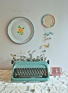 Ideias de decoração com máquinas de escrever