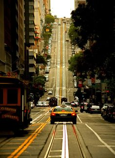 California Street in San Francisco.  Nice Shot!