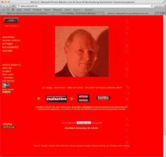 Deze website is echt slecht, je wordt verblind door het kleuren schema, ook de profiel foto die door je scherm heen springt is geweldig.