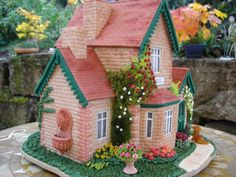 summer cottage gingerbread house
