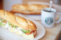 food, starbucks, and sandwich image