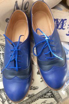 Blue Brogues, Oxford Shoes, Women, Fashion, Moda, Fashion Styles, Fashion Illustrations, Woman