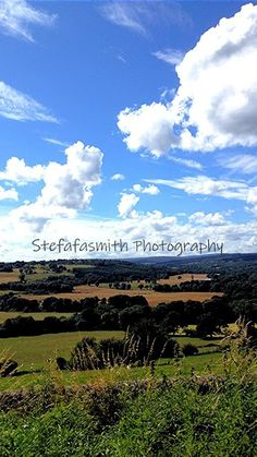 The bright blue skies and fluffy white clouds this is the countryside near our own town. White Clouds, Blue Skies, North Yorkshire, Night Time, Countryside, Sky, Board, Photography, Outdoor