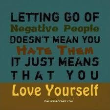 Letting go of negative people doesn't mean you hate them.  It just means that you love yourself. Can I let go of the Time Thief?