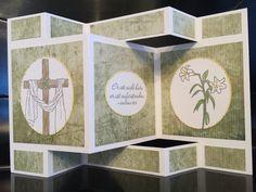Stampin Up Faltkarte zum Aufstellen mit dem Stempelset Easter Message / Auferstanden von 2017