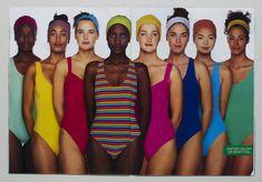 @Benetton @OlivieroToscani @UnitedColorsOfBenetton #bathingSuit #global #groupShot #1992 #multicultural #onePiece #sS #swimsuit #swimwear #lookBook #90s #ad