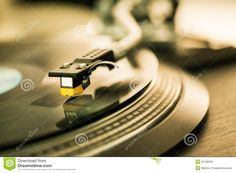 Vinyl Disc On Record Player Royalty Free Stock Images - Image ...
