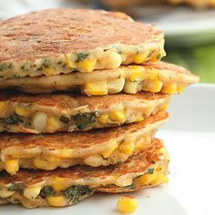 Corn and Basil Cakes- made these for the kids this past summer when basil was plentiful.