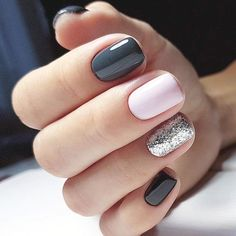 21 Outstanding classy nails ideas for your gorgeous look - Nageldesign - Nail Art - Nagellack - Nail Polish - Nailart - Nails - Accent Nail Designs, Classy Nail Designs, Pedicure Designs, Gel Nail Designs, Popular Nail Designs, Pretty Nail Designs, Popular Nail Colors 2017, Acrylic Nails Designs Short, Navy Blue Nail Designs