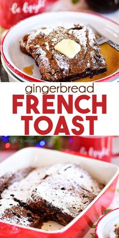 Gingerbread French Toast Bake Has All The Flavors Of The Classic Gingerbread Cookie. Amass The Night Before And Bake In The Morning For A Warm And Delicious Quintessential Christmas Breakfast. Print The Full Recipe At Cheap Clean Eating, Clean Eating Snacks, Brunch Recipes, Gourmet Recipes, Brunch Ideas, Easy Recipes, Cooking Recipes, Buffet, French Toast Bake
